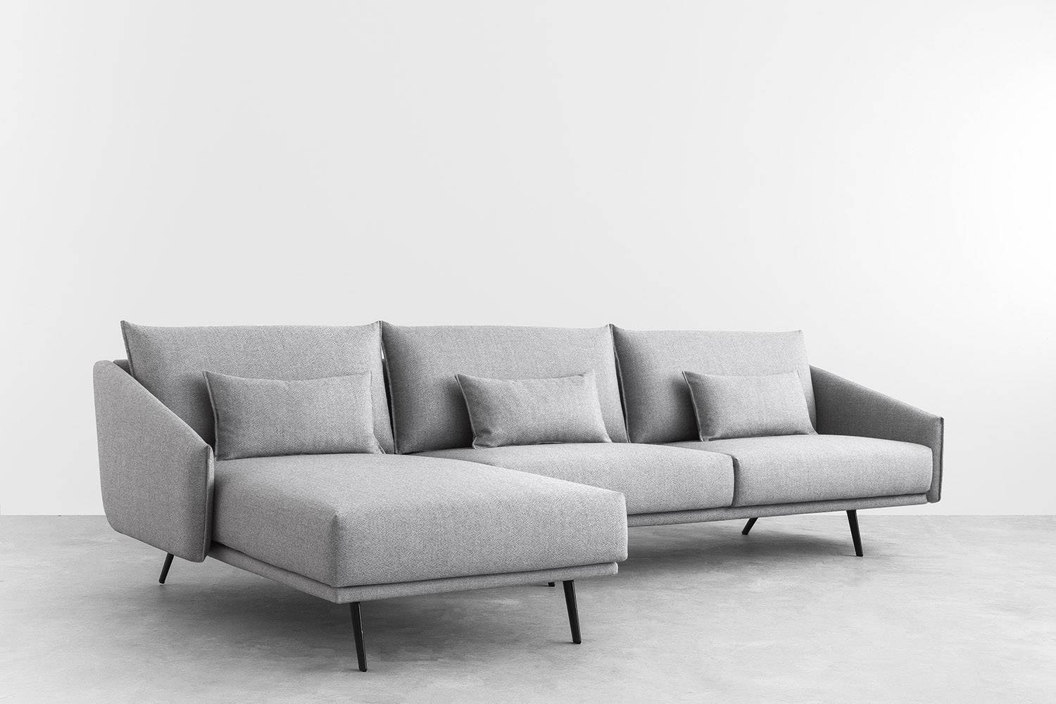 Costura Sofa With Chaiselongue - Eames Lighting regarding Sofas With Chaise Longue (Image 7 of 30)