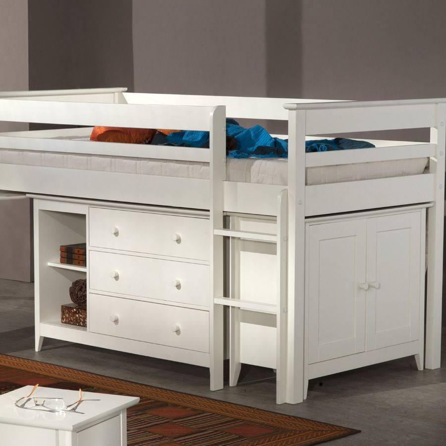 Cotswold Children's White Cabin Bed intended for Kids Cabin Beds With Wardrobes (Image 4 of 15)