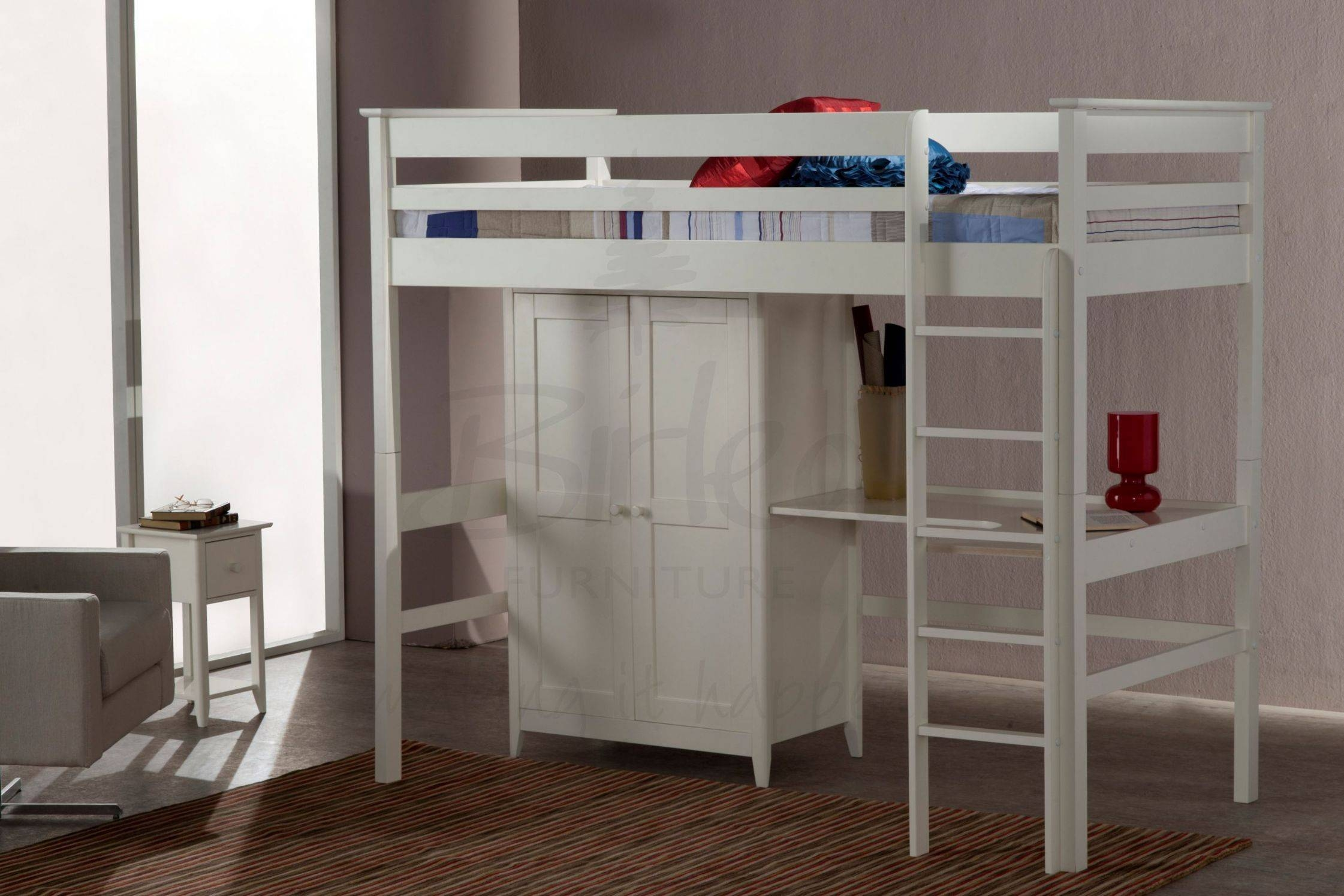 Cotswold High Sleeper Bed | Fully Assembled Bedroom Furniture With with  regard to High Sleeper With
