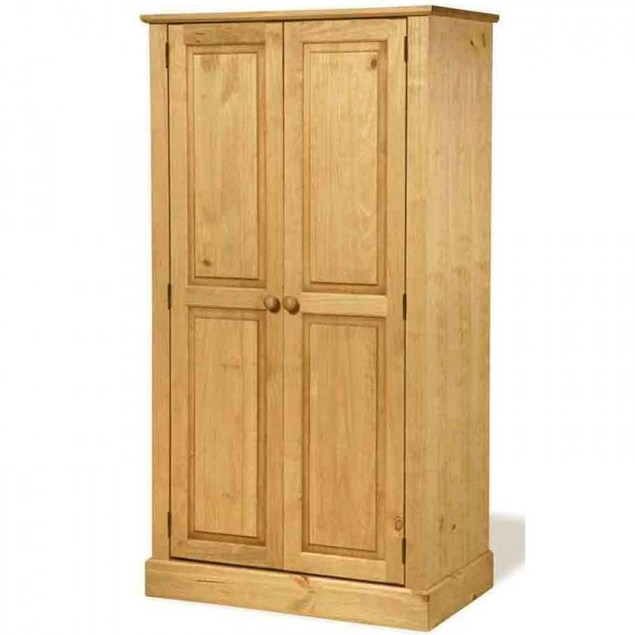 Cotswold Waxed Pine Double Wardrobe | Charlies Direct intended for Double Pine Wardrobes (Image 3 of 15)