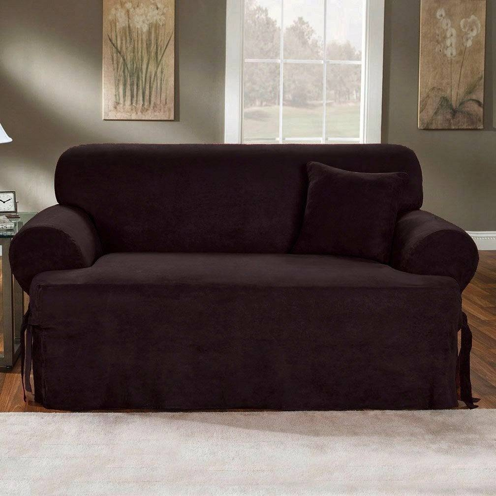 Couch Covers: Black Couch Covers in Black Slipcovers for Sofas (Image 4 of 30)