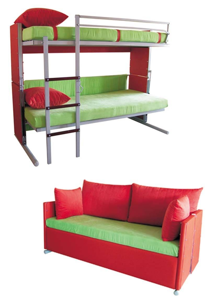Couch That Turns Into Bunk Bed Furniture regarding Sofa Bunk Beds (Image 8 of 30)