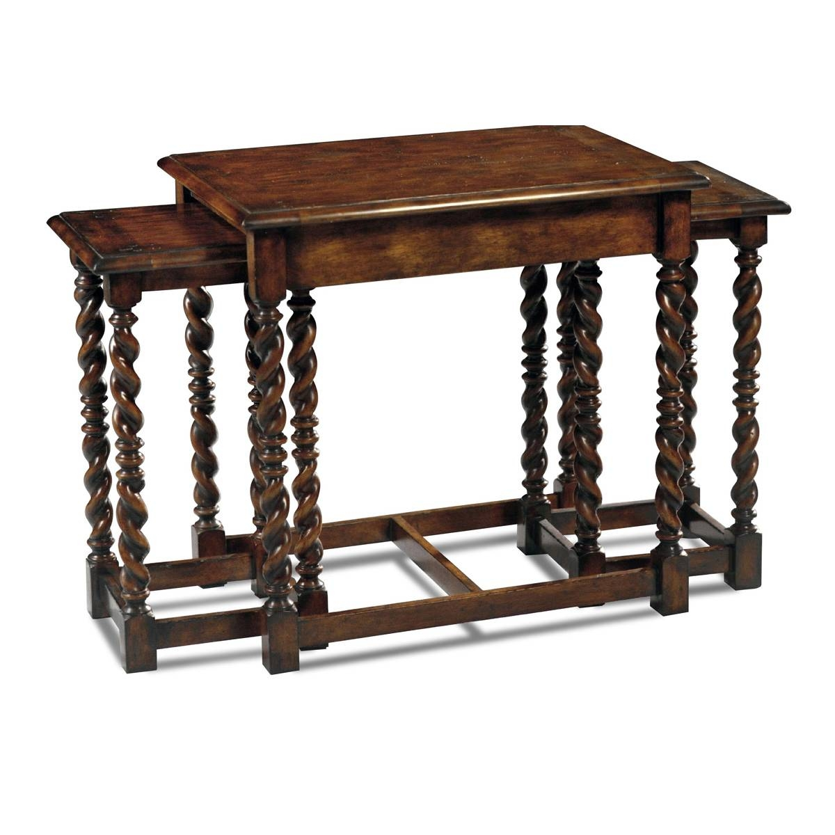 Country English Style Nesting Coffee Table|English Antiques within Nest Coffee Tables (Image 9 of 30)