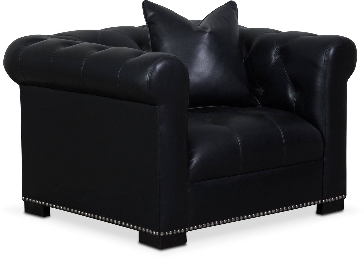 Couture Sofa, Chair And Swivel Chair Set – Black | Value City For Swivel Sofa Chairs (View 10 of 30)