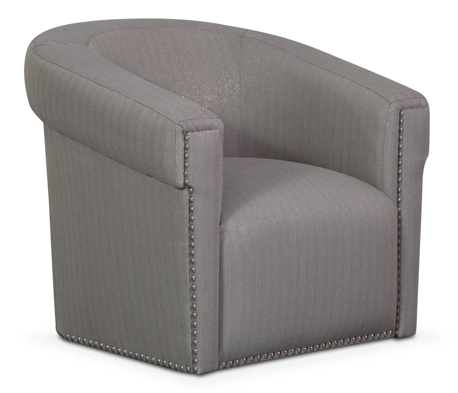 Couture Sofa, Chair And Swivel Chair Set - Black | Value City pertaining to Swivel Sofa Chairs (Image 12 of 30)