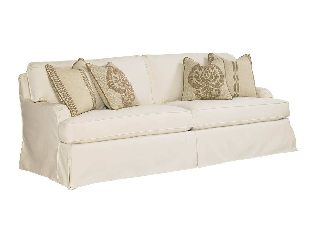 Coventry Hills Stowe Slipcover Sofa - Cream | Lexington Home Brands with regard to Slipcovers Sofas (Image 6 of 30)