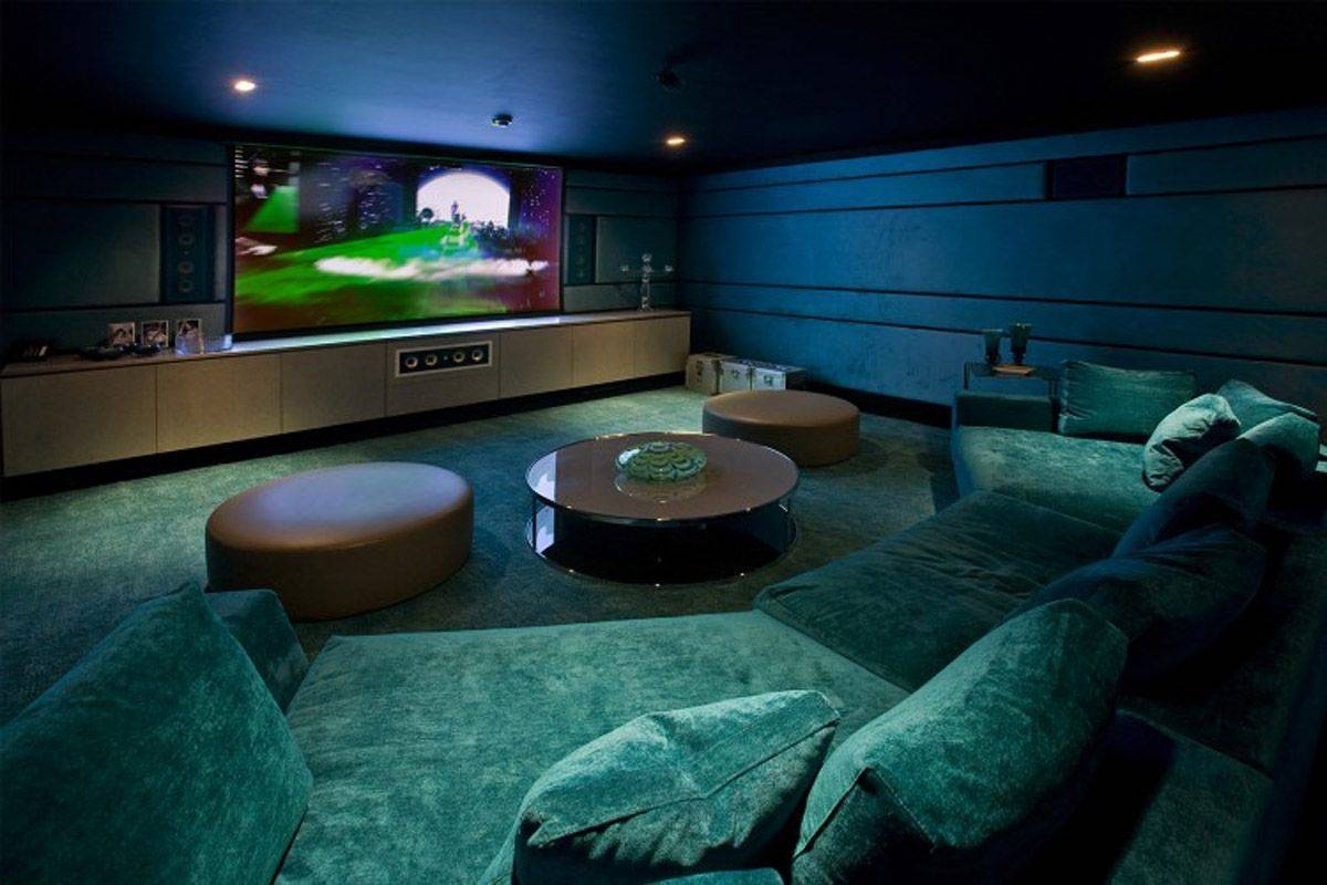 Cozy Black Sofa For Small Theater At Home - Techethe throughout Theater Room Sofas (Image 5 of 30)