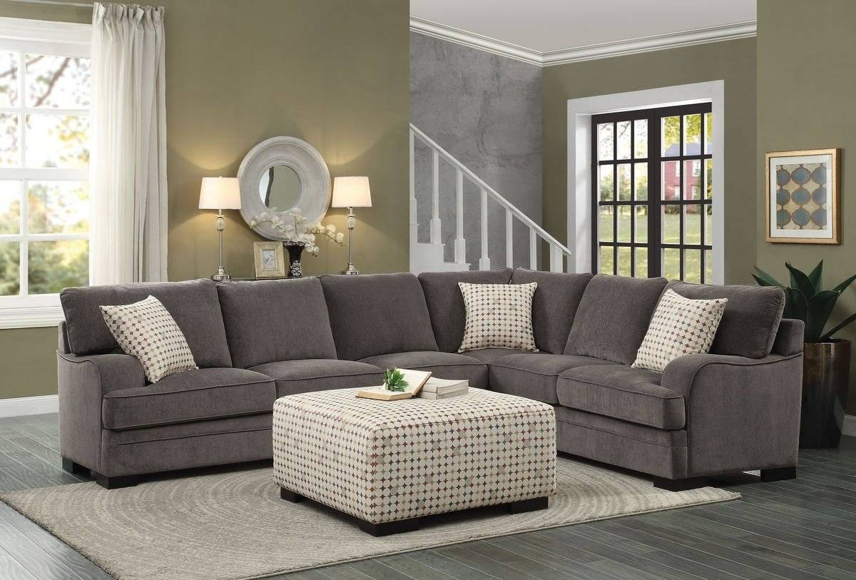 Cozy Chenille Sectional Sofas 13 For 10 Foot Sectional Sofa With throughout 10 Foot Sectional Sofa (Image 17 of 30)