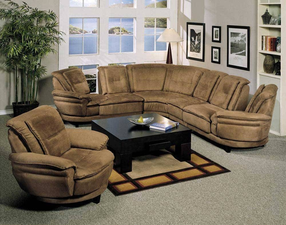 Cozy Microfiber Sectional Sofa | Home Decor & Furniture pertaining to Microsuede Sectional Sofas (Image 2 of 30)