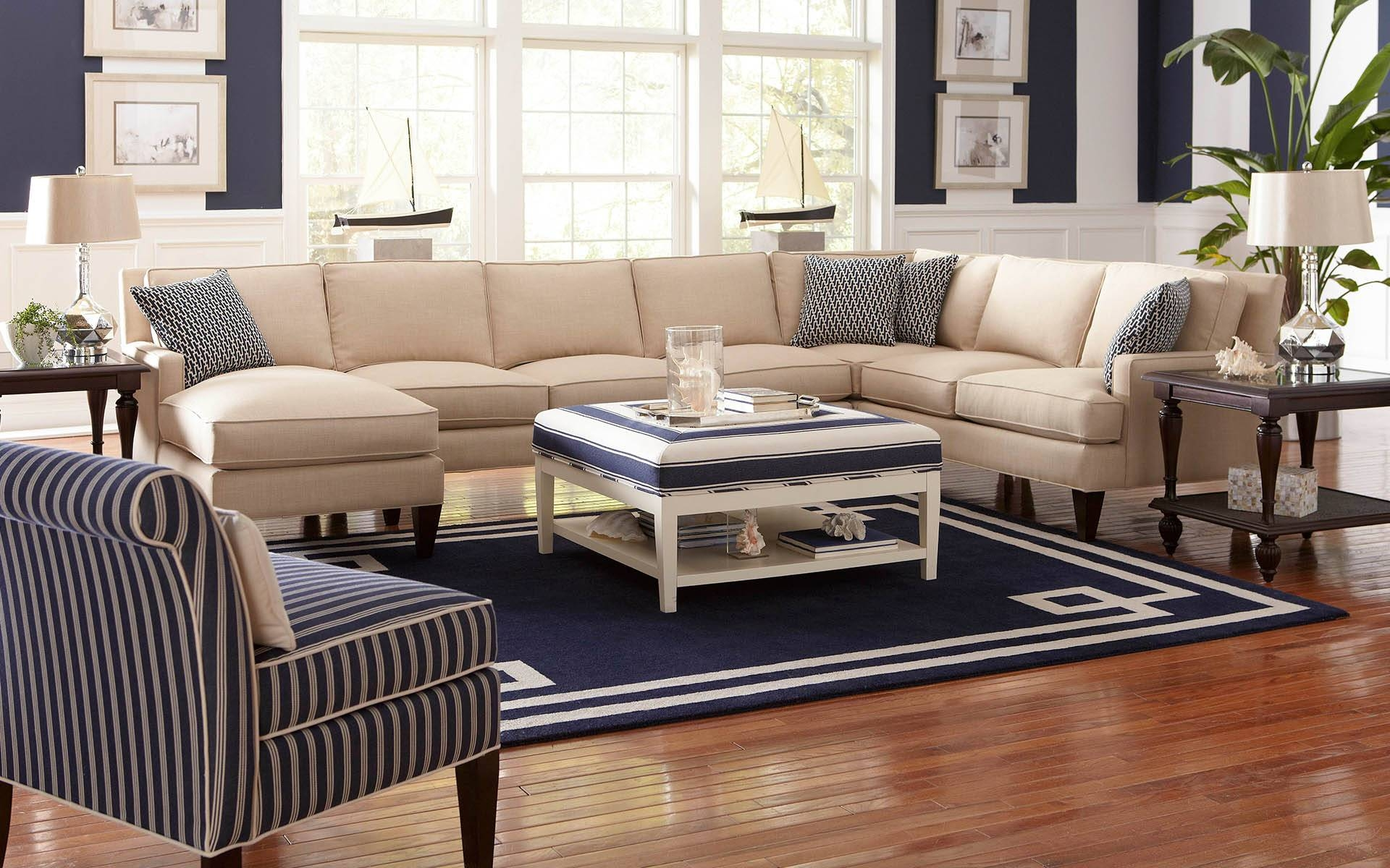 Cozy Sectional Sofas Havertys 21 For Abbyson Living Charlotte intended for Abbyson Living Charlotte Beige Sectional Sofa and Ottoman (Image 11 of 30)