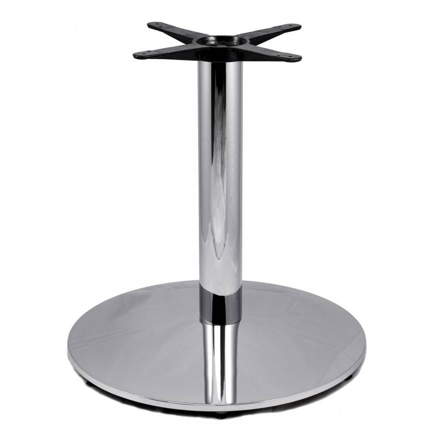 "Cr28 Chrome Table Base - Coffee Table Height (18"") 