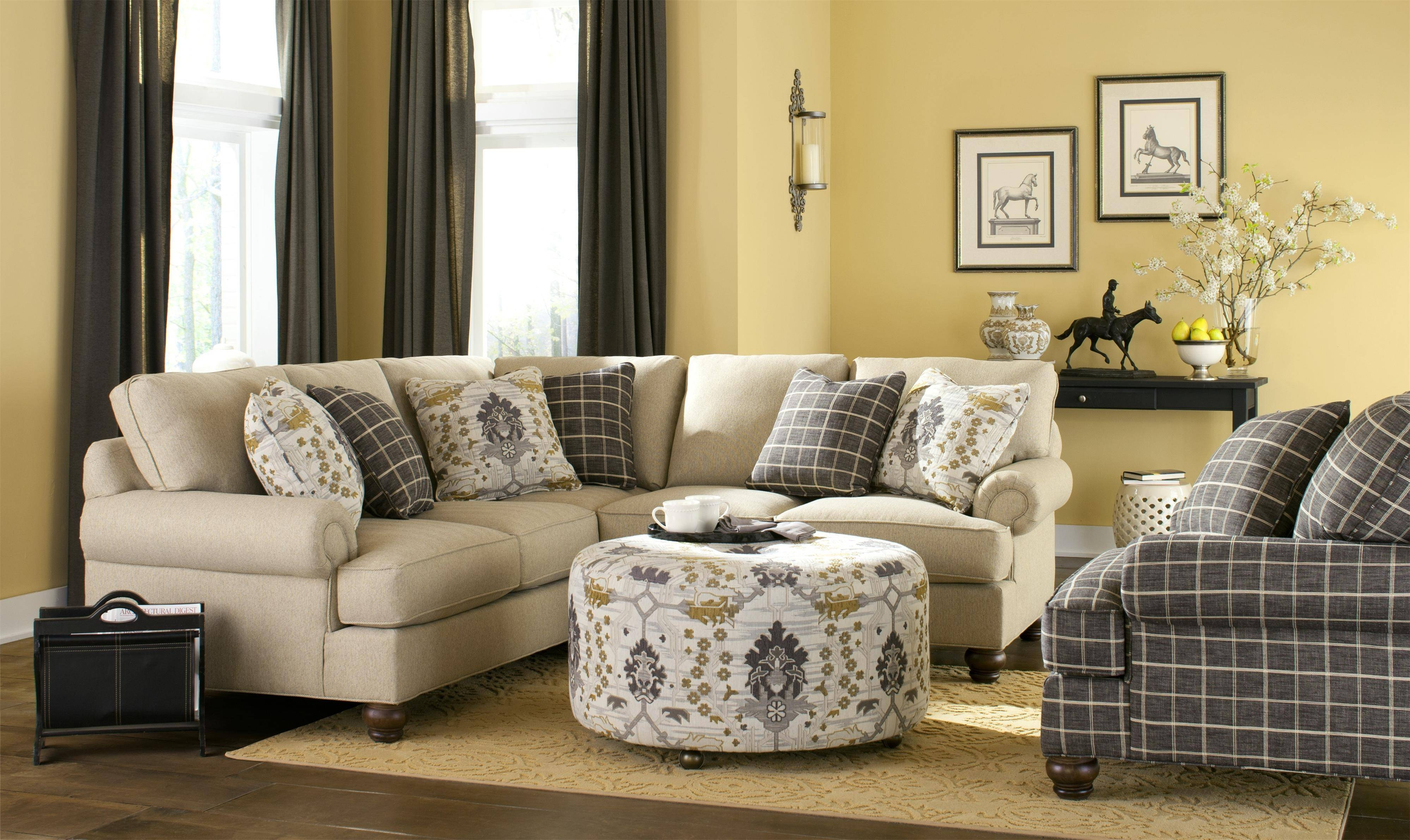 Craftmaster C9 Custom Collection <B>Customizable</b> Two Piece throughout Craftmaster Sectional Sofa (Image 8 of 30)