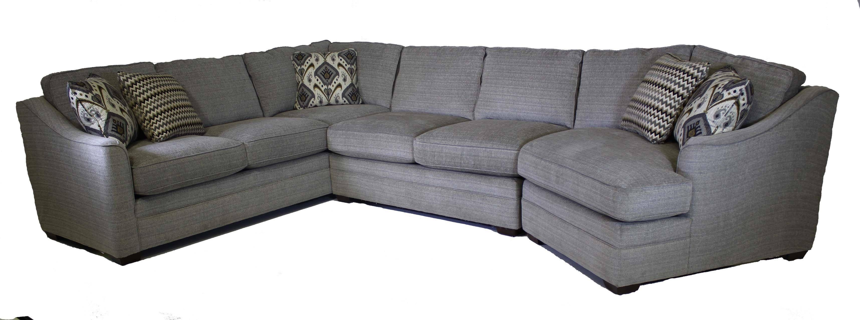 Craftmaster F9 Custom Collection Customizable 3-Piece Sectional throughout Craftmaster Sectional Sofa (Image 9 of 30)