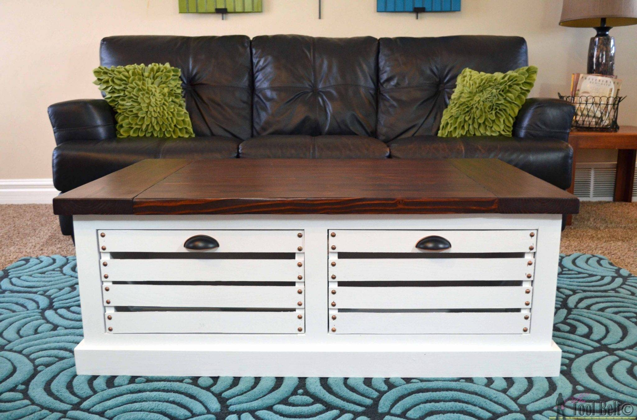 Crate Storage Coffee Table And Stools – Her Tool Belt With Storage Coffee Tables (View 15 of 30)