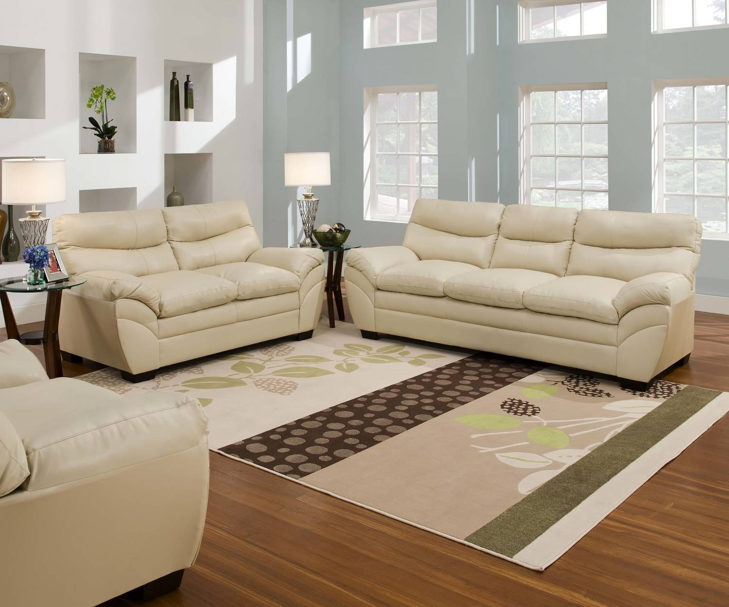 Cream Colored Living Room Furniture - Carameloffers pertaining to Cream Colored Sofas (Image 7 of 30)