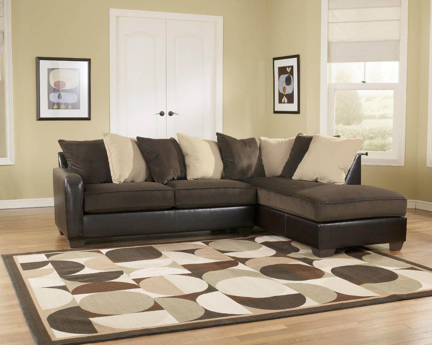 Cream Colored Sectional Sofa - Hotelsbacau inside Diana Dark Brown Leather Sectional Sofa Set (Image 14 of 30)