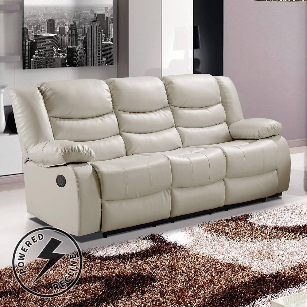 Cream Leather Sofa Recliner | Tehranmix Decoration Regarding Ivory Leather Sofas (View 7 of 30)