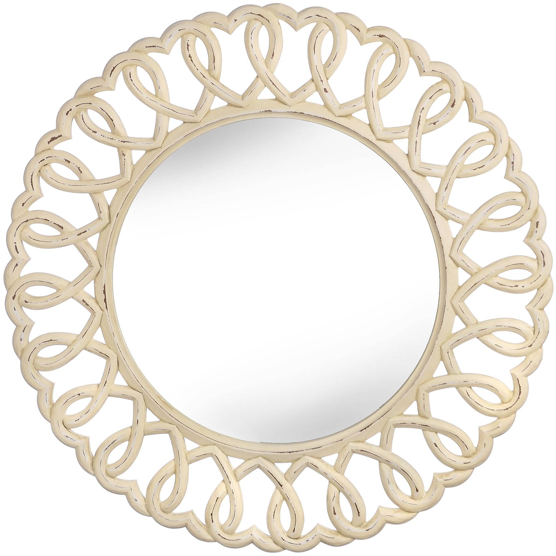 Cream Shabby Chic Dressing Table Mirror: Upcycled Dressing Table in Shabby Chic Cream Mirrors (Image 9 of 25)