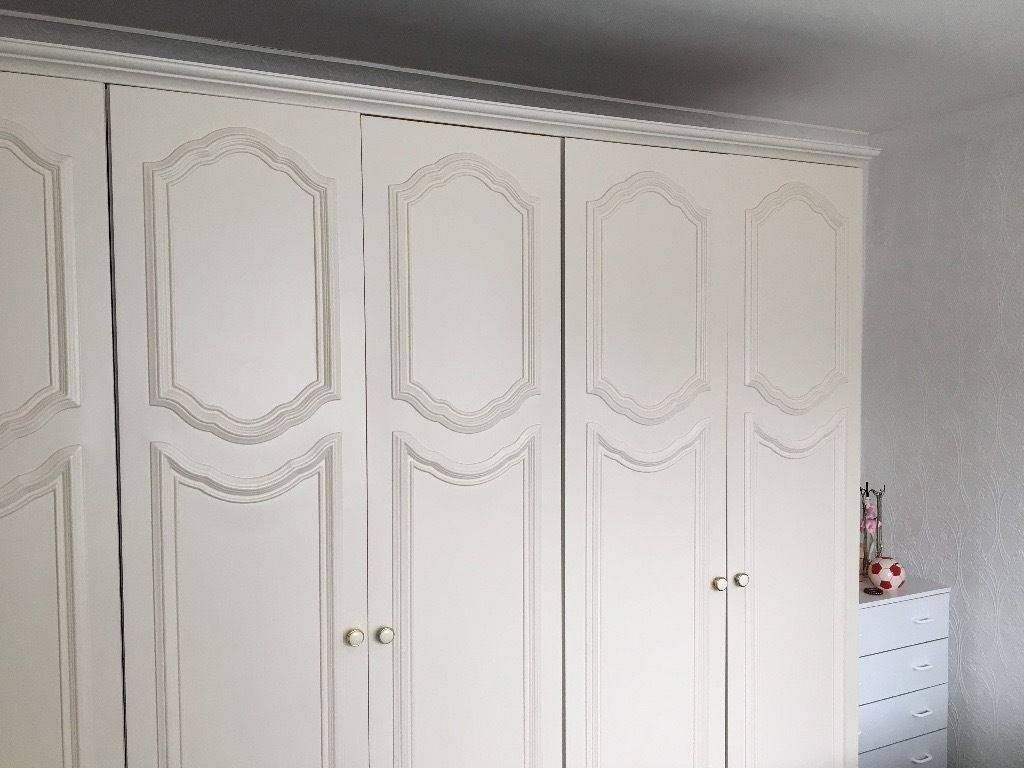 Cream Wardrobes In Excellent Condition. Collection Only | In regarding Cream Wardrobes (Image 4 of 15)