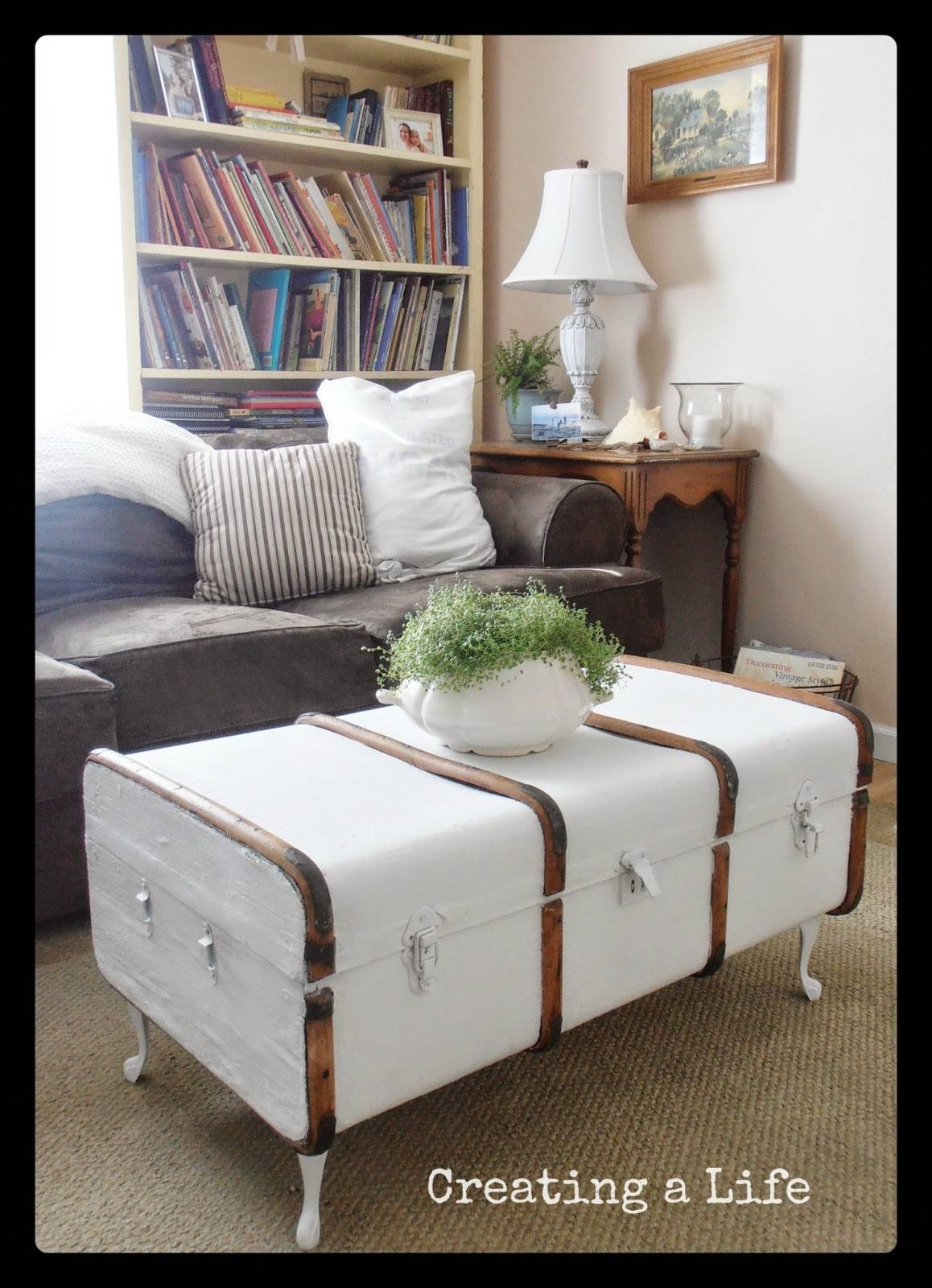 Creating A Life: Vintage Trunk Coffee Table for Old Trunks as Coffee Tables (Image 13 of 30)