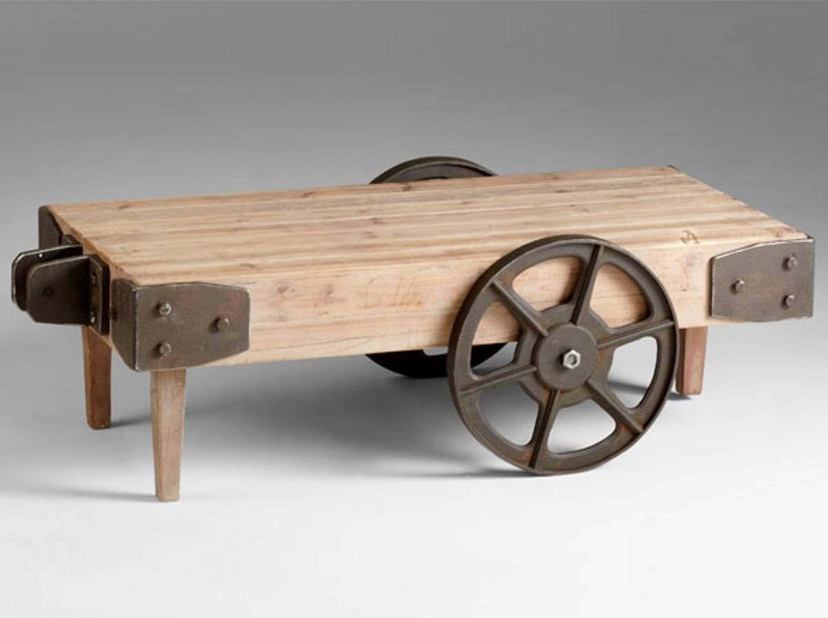 Creative Of Wood Trunk Coffee Table With Coffee Table Remarkable inside Coffee Tables With Wheels (Image 18 of 30)