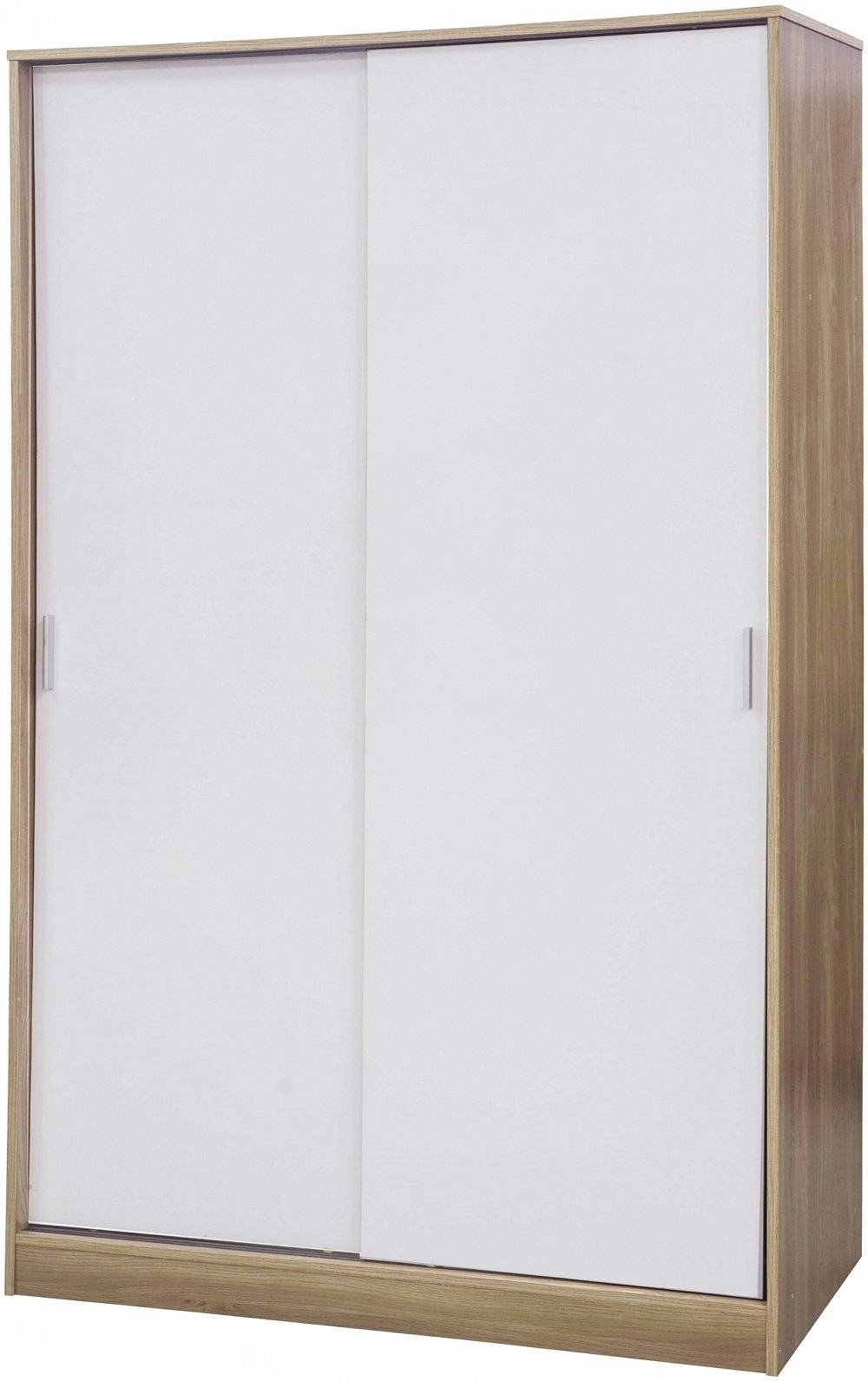 Credit Crunch Carpets Nottingham: - Ottawa Sliding Wardrobe White/oak within Oak And White Wardrobes (Image 9 of 15)