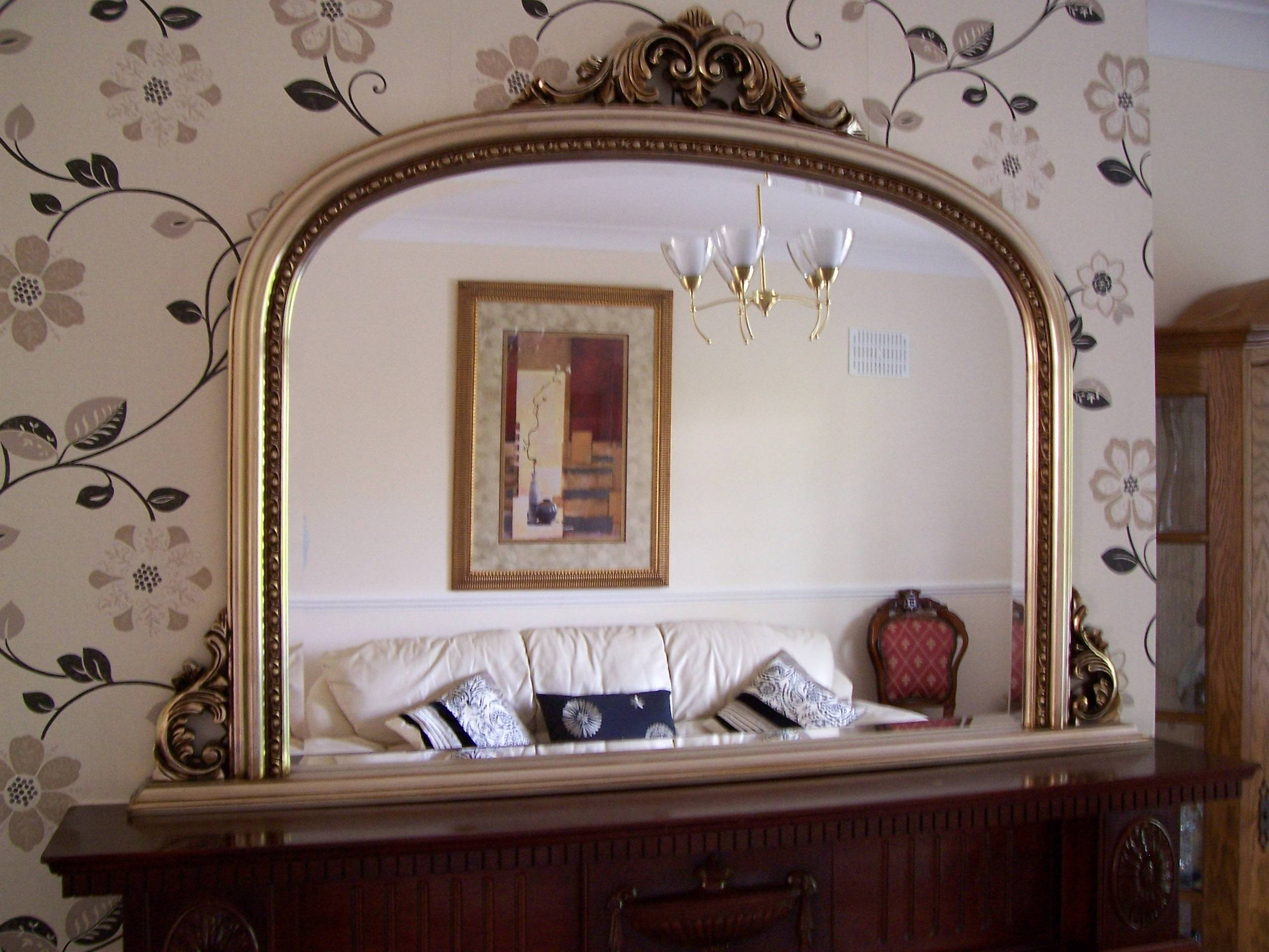 Crinken Glass with regard to Overmantel Mirrors (Image 6 of 25)
