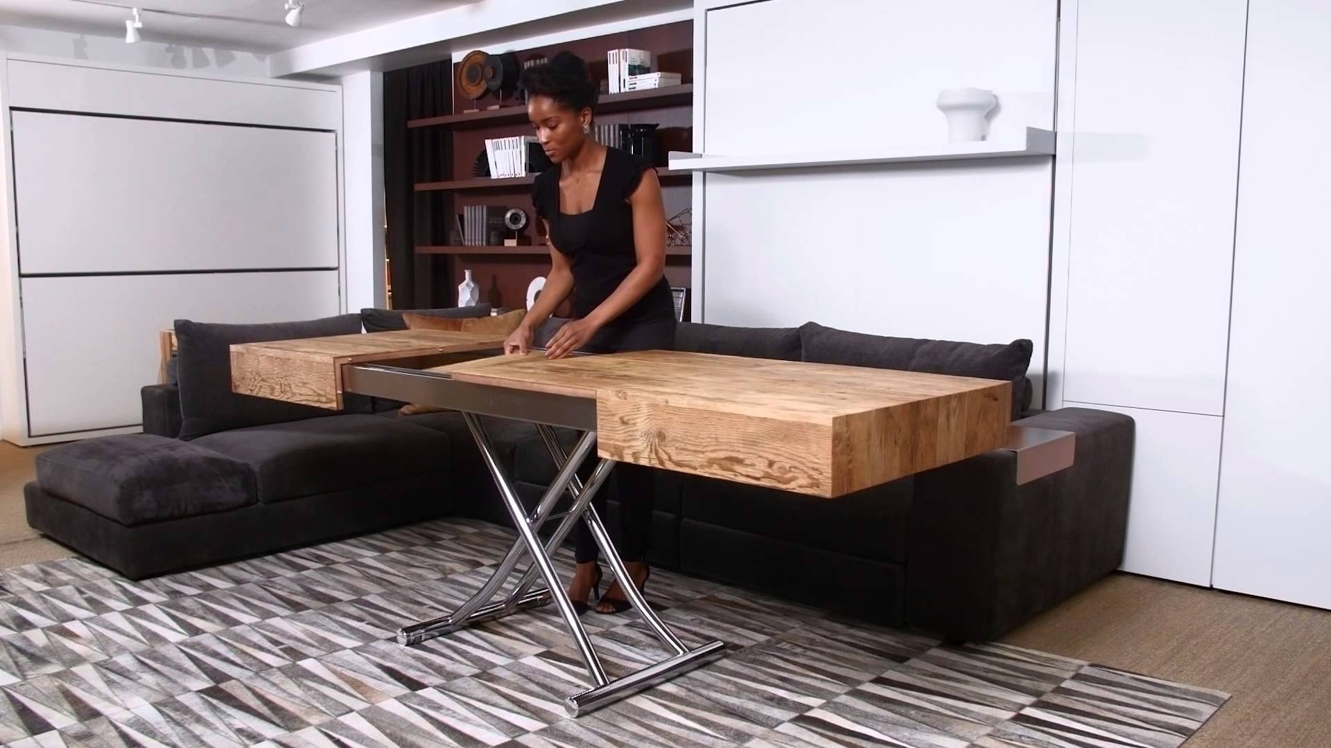 Cristallo | Resource Furniture | Transforming Tables - Youtube intended for Coffee Table To Dining Table (Image 13 of 30)