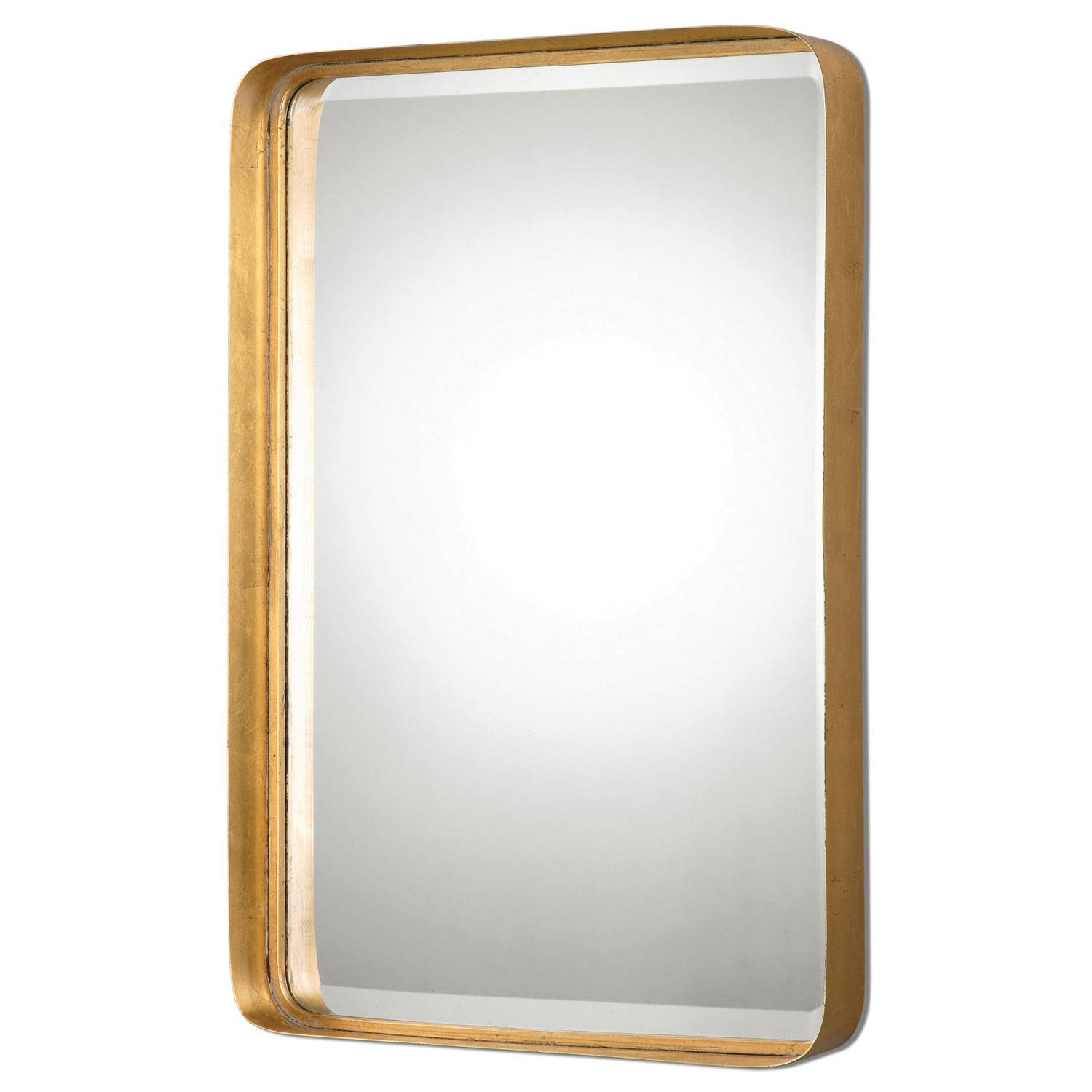 Crofton Antique Gold Mirror Uttermost Wall Mirror Mirrors Home Decor Regarding Antique Gold Mirrors (View 3 of 25)