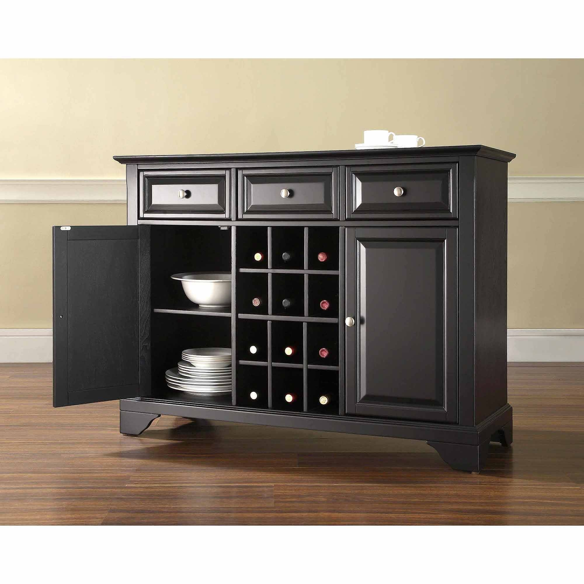 Crosley Furniture Lafayette Buffet Server And Sideboard Cabinet for Black Sideboards (Image 7 of 30)