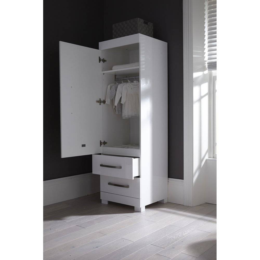Cross Notting Hill Nursery Furniture Set - Single Wardrobe inside Single Black Wardrobes (Image 2 of 15)