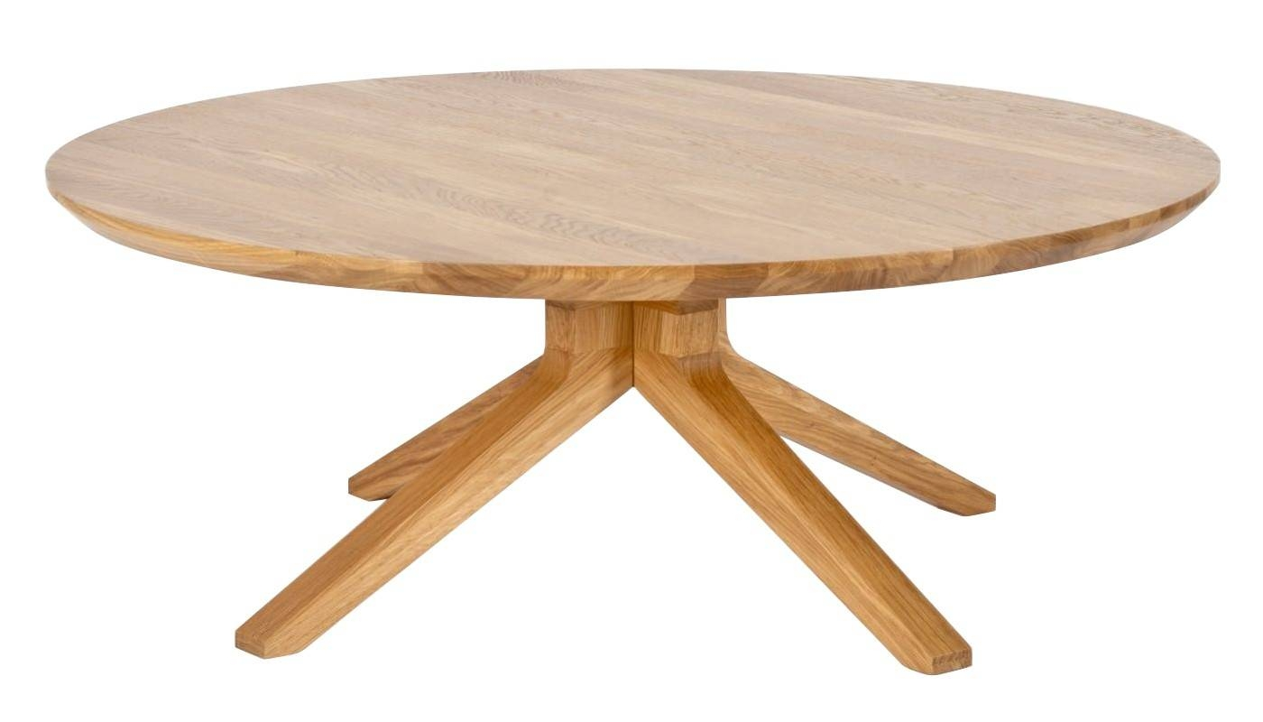 Cross Round Coffee Table Oak intended for Round Oak Coffee Tables (Image 6 of 30)