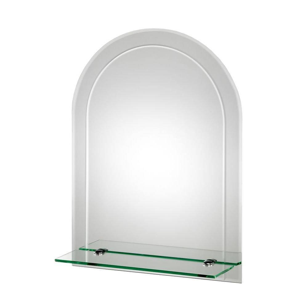 Croydex 18 In. X 24 In. Fairfield Beveled Edge Arch Wall Mirror regarding Arched Mirrors (Image 9 of 25)