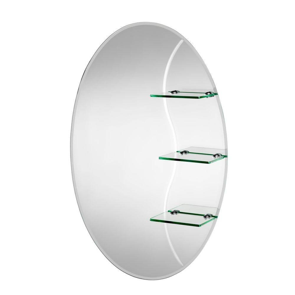 Croydex 20 In. X 30 In. Coniston Beveled Edge Oval Wall Mirror pertaining to Beveled Edge Oval Mirrors (Image 8 of 25)