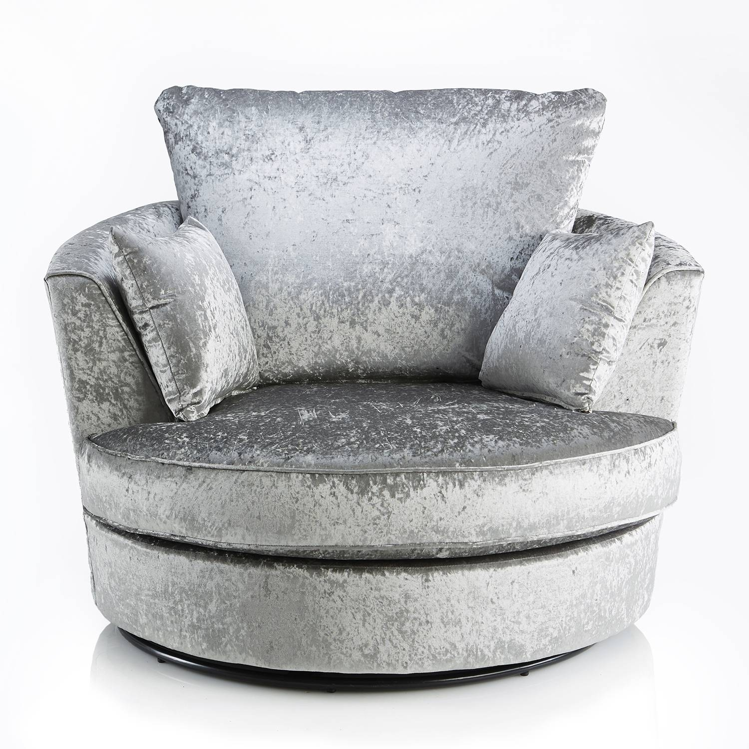 Crushed Velvet Furniture | Sofas, Beds, Chairs, Cushions Pertaining To Swivel Sofa Chairs (View 13 of 30)