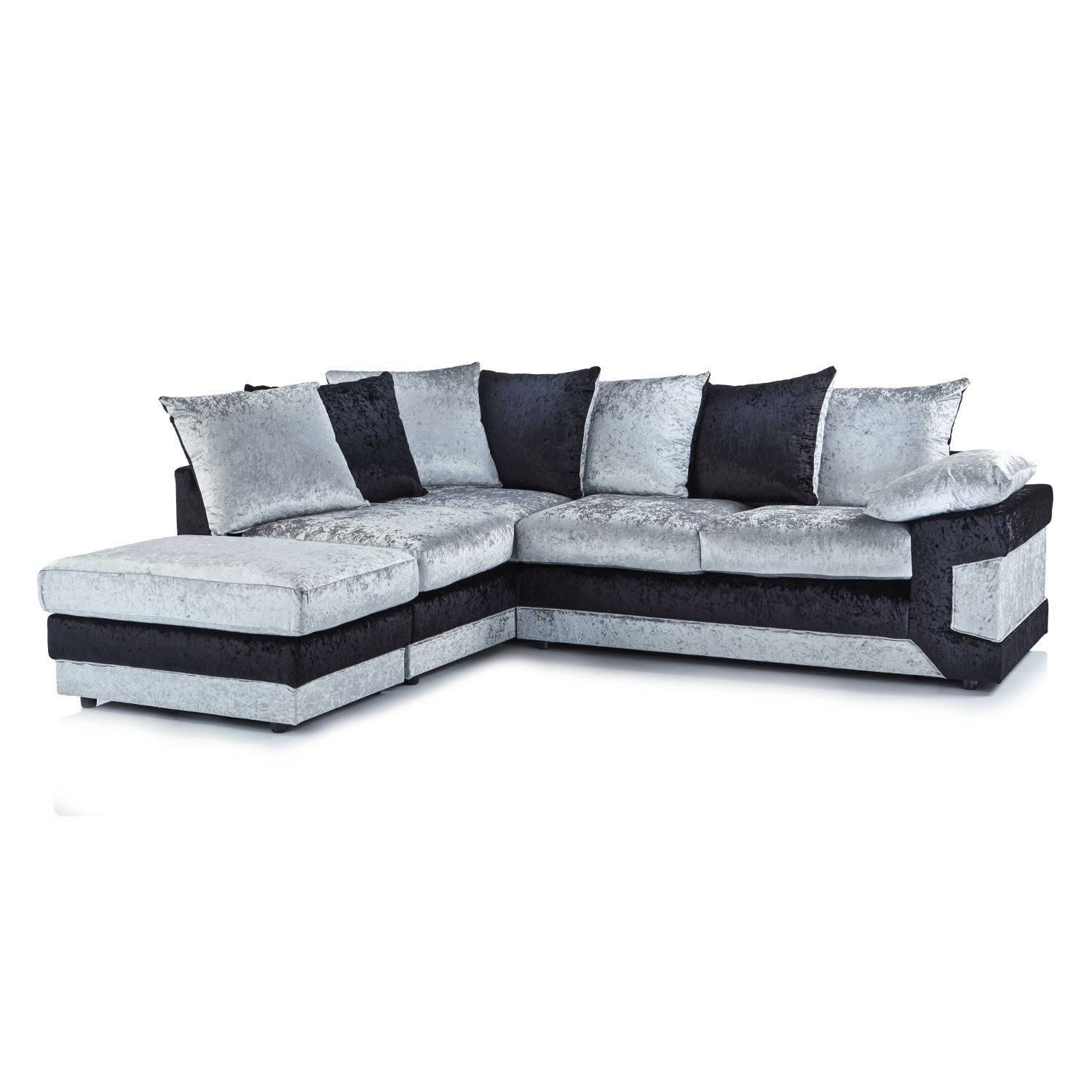 Crushed Velvet Furniture | Sofas, Beds, Chairs, Cushions regarding Black Velvet Sofas (Image 9 of 30)