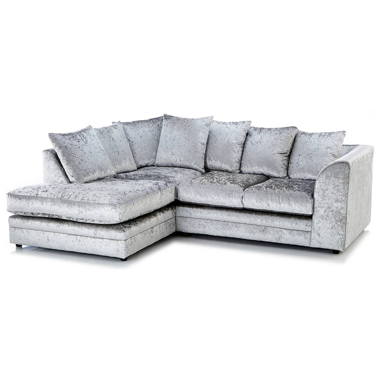 Crushed Velvet Furniture | Sofas, Beds, Chairs, Cushions Regarding Corner Sofa Chairs (View 12 of 30)