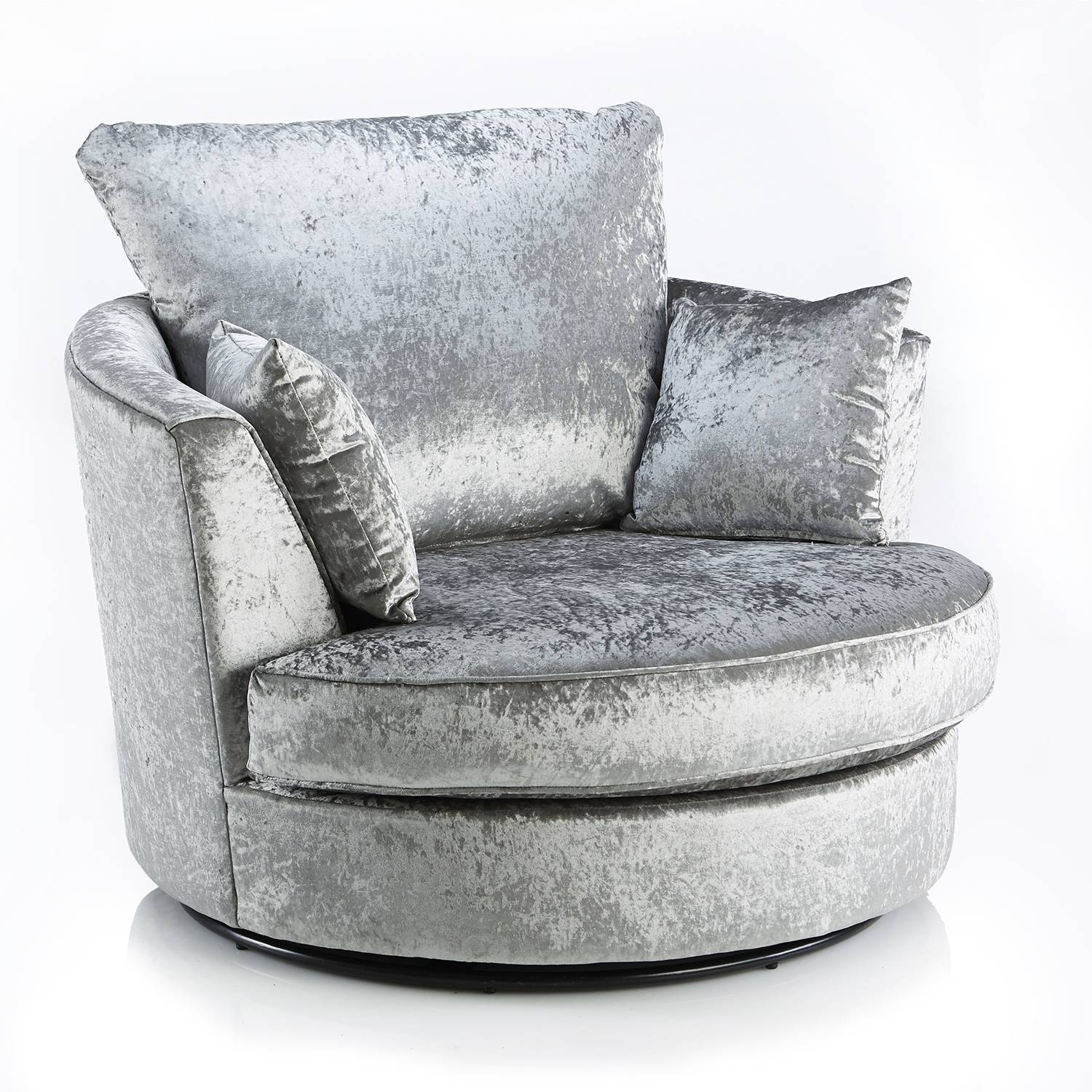 Crushed Velvet Furniture | Sofas, Beds, Chairs, Cushions within Sofa With Swivel Chair (Image 15 of 30)