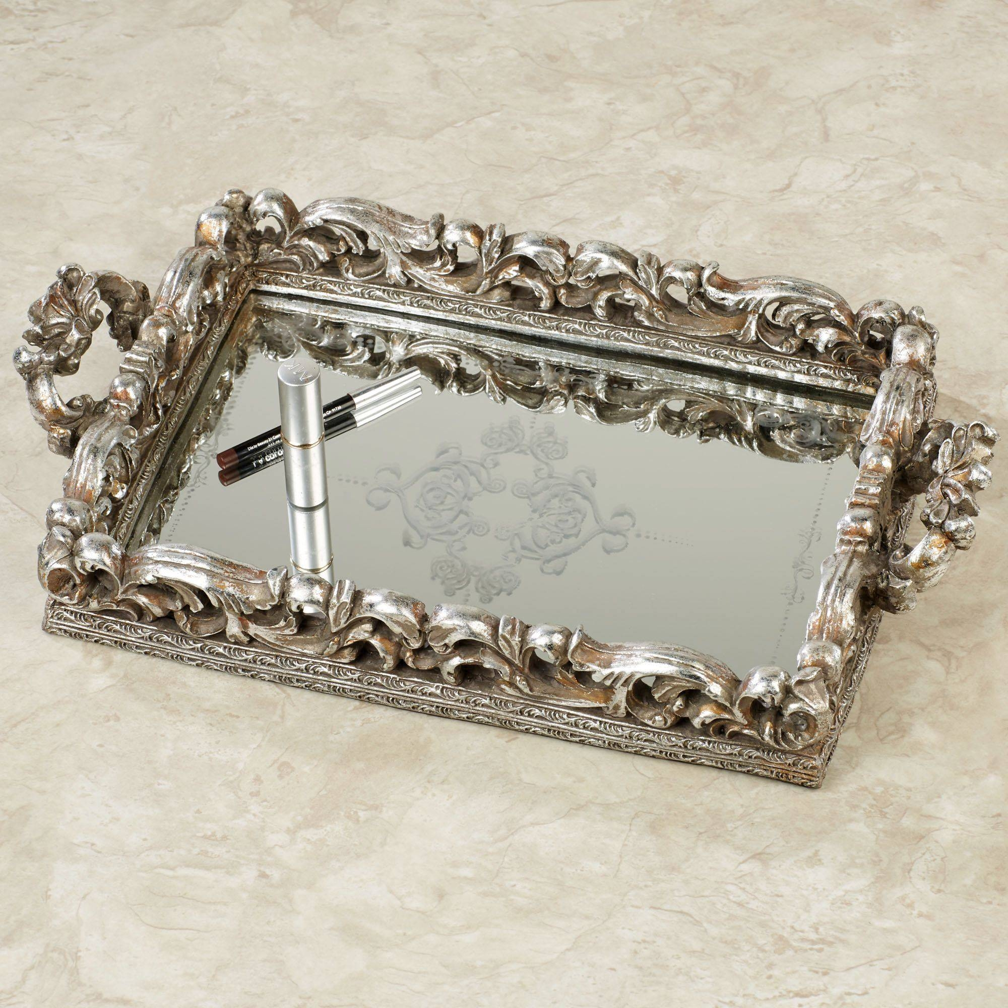 Crystal Clear Vanity Tray Mirror | Creative Vanity Decoration pertaining to Venetian Tray Mirrors (Image 8 of 25)
