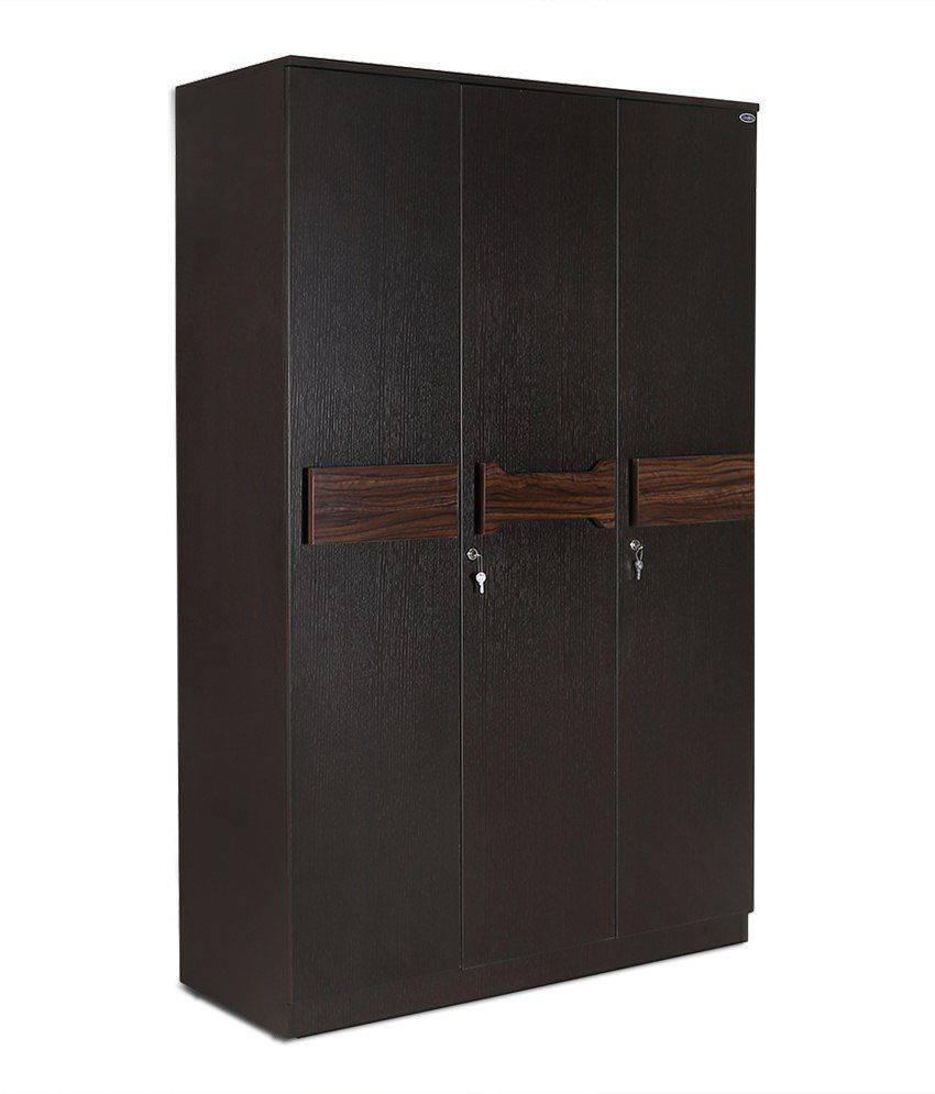Crystal Furnitech Leon 3 Door Wardrobe: Buy Online At Best Price regarding 3 Door Wardrobes (Image 9 of 15)