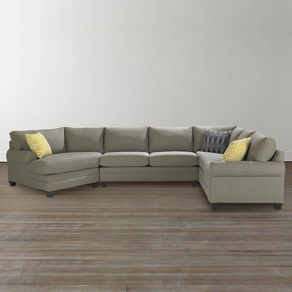 Cu.2 Left Cuddler Sectional Sofa | Bassett Home Furnishings with Cuddler Sectional Sofa (Image 10 of 30)