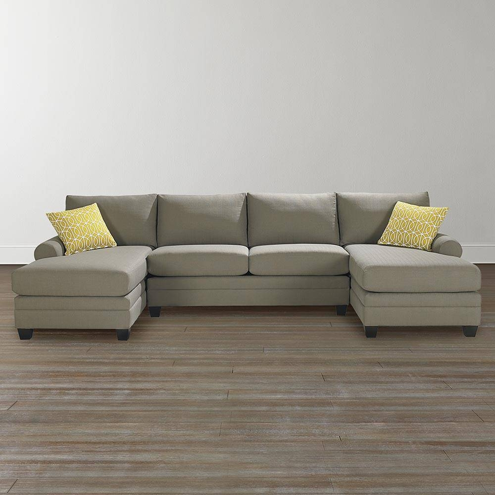 Cu.2 Upholstered Double Chairse Sectional in Bassett Sectional Sofa (Image 14 of 30)