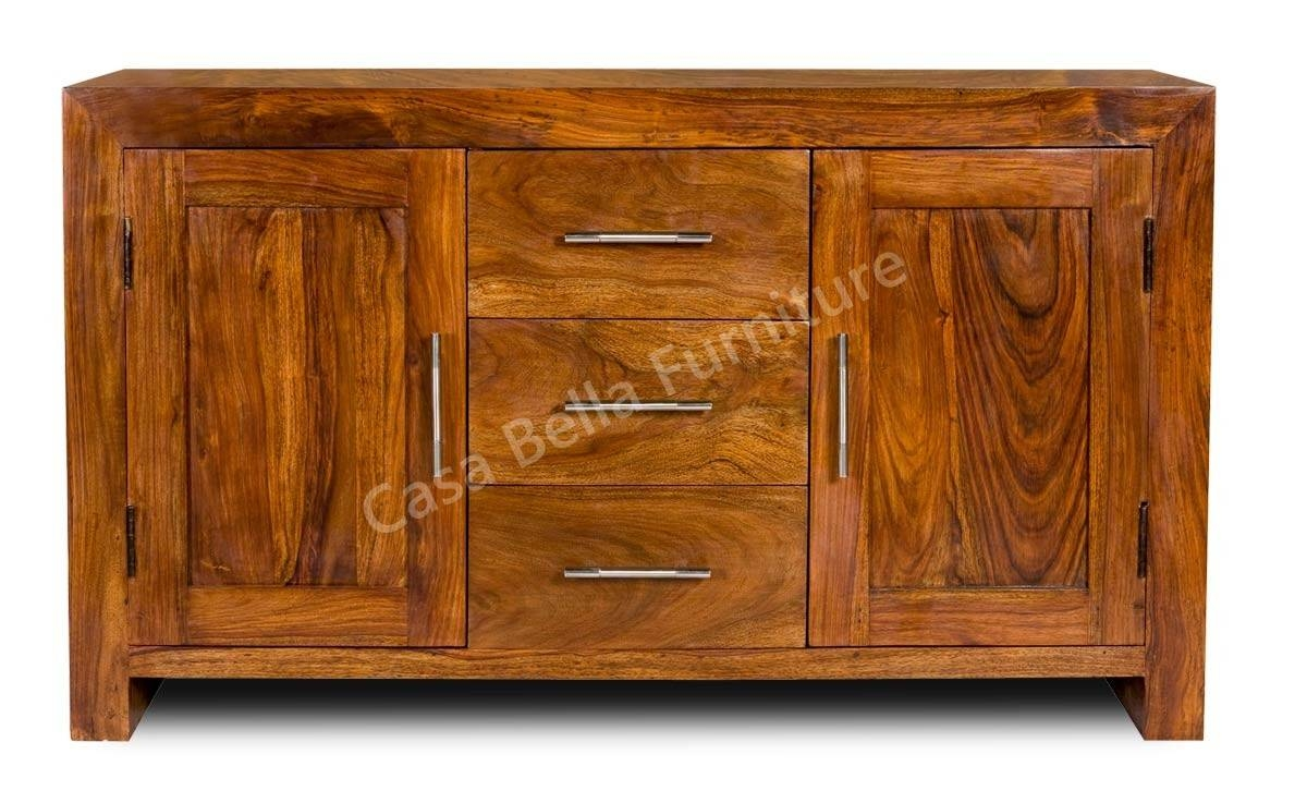Cuba Sheesham Sideboard | Casa Bella Furniture Uk inside Sheesham Sideboards (Image 3 of 30)