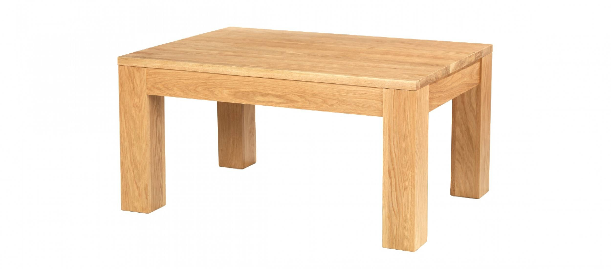 Cube Oak Coffee Table | Quercus Living With Chunky Oak Coffee Tables (View 16 of 30)