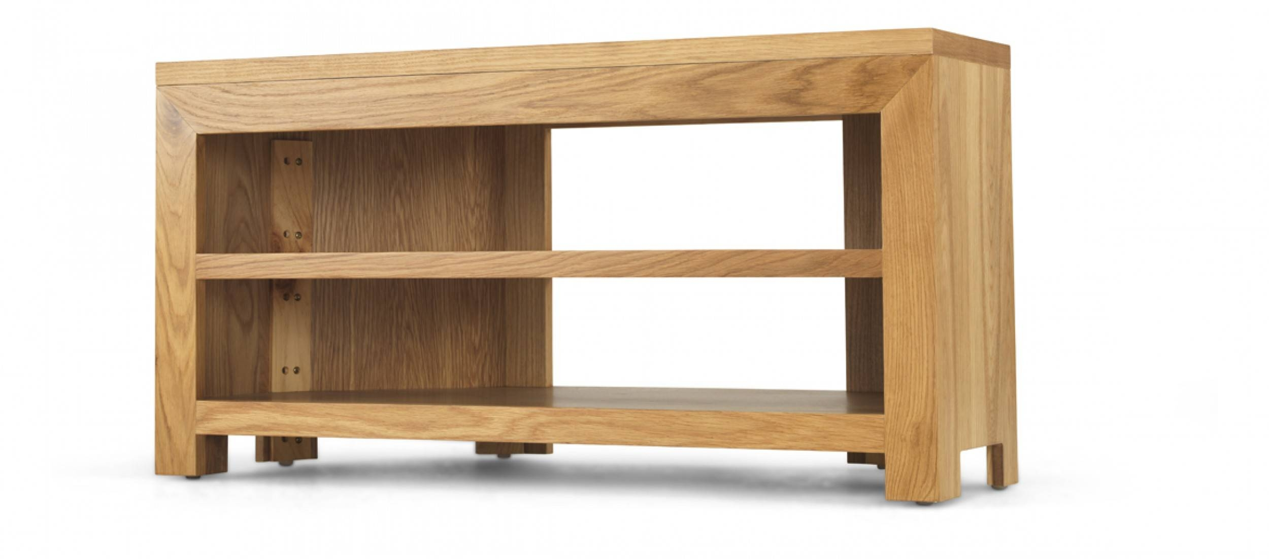 Cube Oak Open Corner Tv Unit | Quercus Living with regard to Corner Sideboard Units (Image 17 of 30)