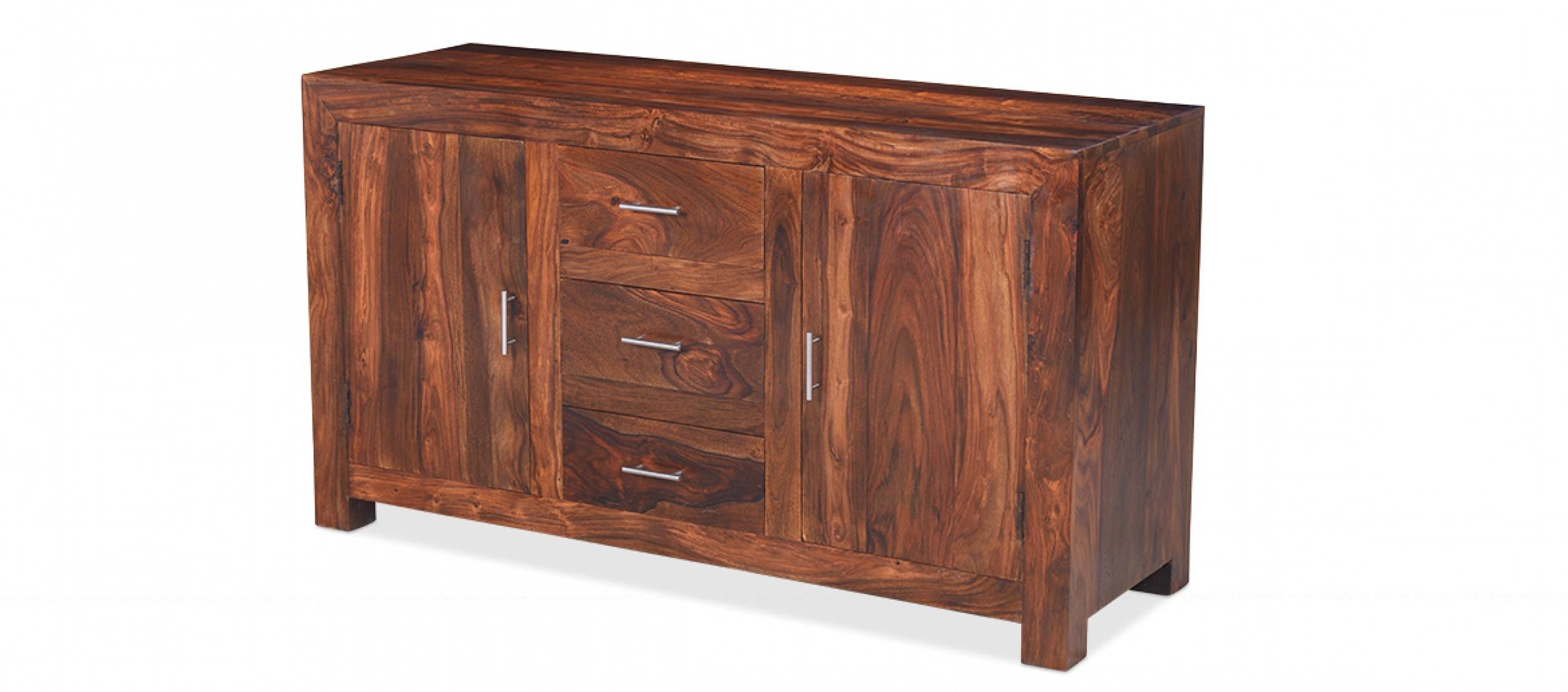 Cube Sheesham Large Sideboard | Quercus Living intended for Sheesham Sideboards (Image 4 of 30)