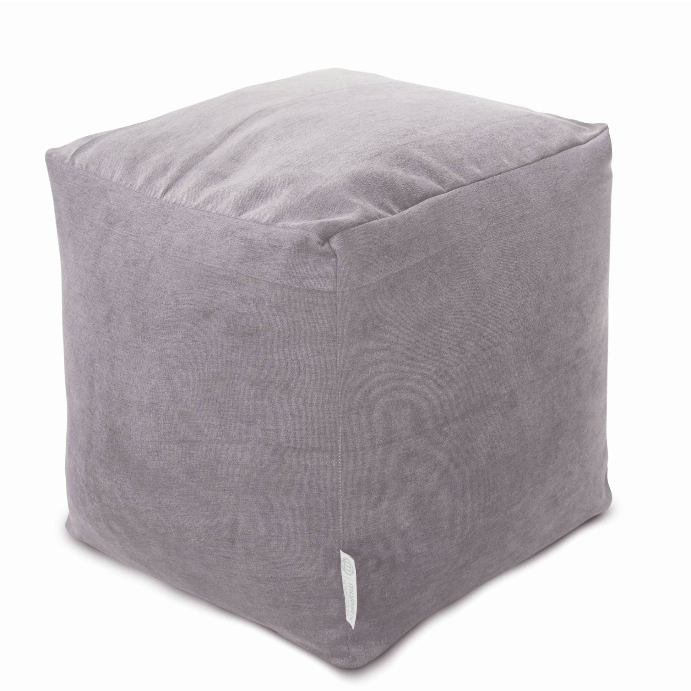 Cubes | Poufs | Footstools | Majestic Home Goods in Velvet Footstool (Image 15 of 30)