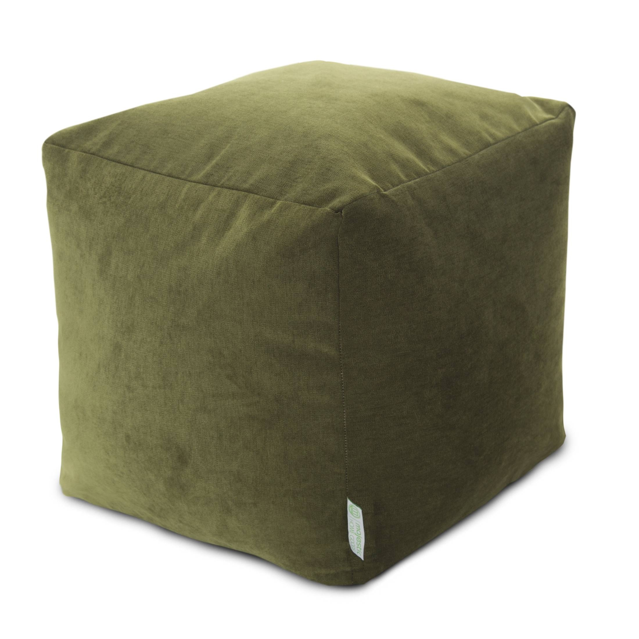 Cubes | Poufs | Footstools | Majestic Home Goods intended for Velvet Footstool (Image 17 of 30)