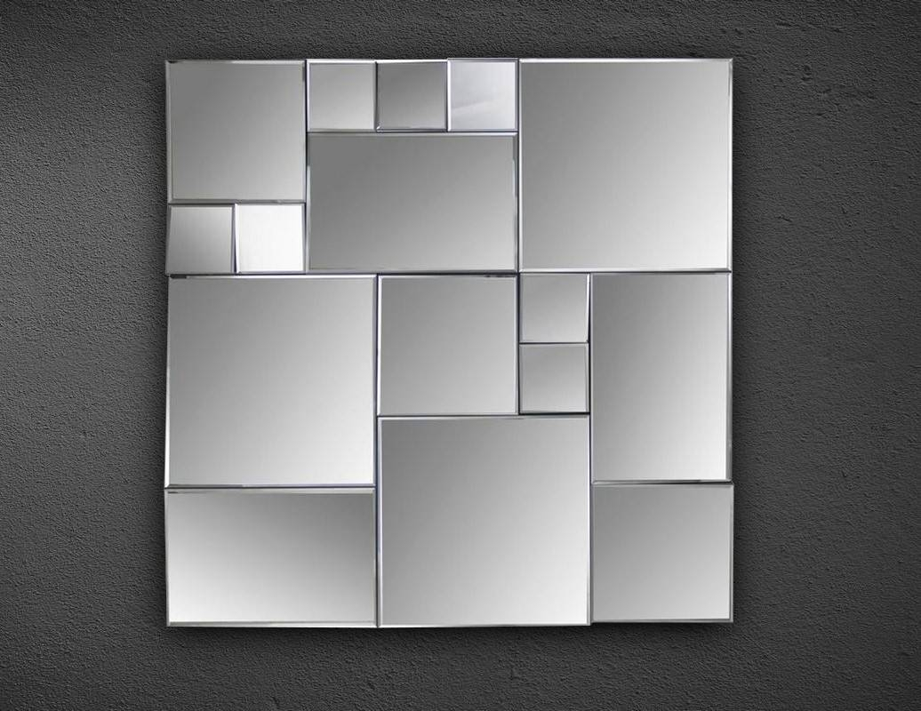 Cubist Square Wall Mirror inside Square Wall Mirrors (Image 9 of 25)