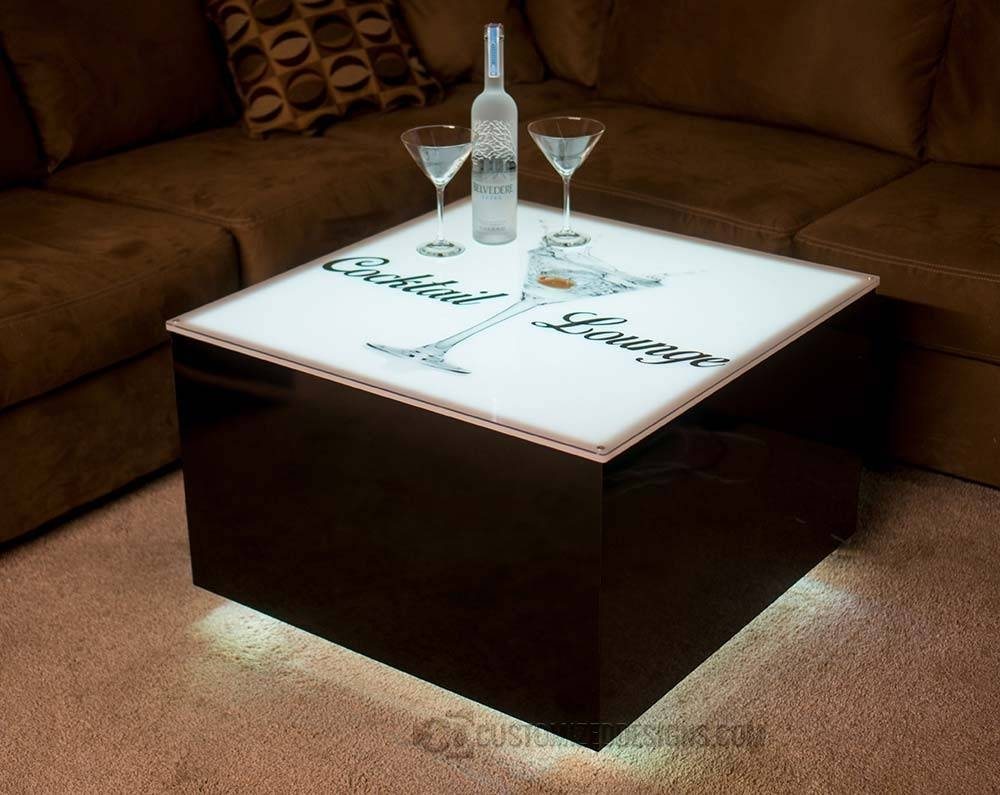 "Cubix Series - 30"" X 30"" Led Illuminated Coffee Table 